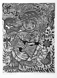 Artist: HANRAHAN, Barbara | Title: Earth mother | Date: 1982 | Technique: wood-engraving, printed in black ink, form one block