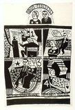 Artist: HANRAHAN, Barbara | Title: Lovers progress | Date: 1965 | Technique: linocut, printed in black ink, from one block
