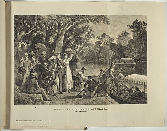 Christmas In Australia Date.Christmas Morning In Australia 1869 By Nicholas Chevalier