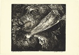 Artist: BOYD, Arthur | Title: Falling figure with beast's head. | Date: (1962-63) | Technique: etching, and aquatint, printed in black ink, from one plate | Copyright: Reproduced with permission of Bundanon Trust