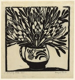 Artist: PRESTON, Margaret | Title: Protea | Date: 1925 | Technique: woodcut, printed in black ink, from one block | Copyright: © Margaret Preston. Licensed by VISCOPY, Australia
