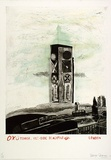 Artist: MOORE, Mary | Title: Oxo Tower, outside Blackfriars | Date: 1980 | Technique: lithograph, printed in colour, from five plates, etching printed in black ink, from one plate | Copyright: © Mary Moore