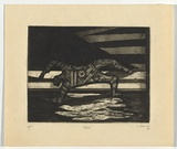 Artist: SELLBACH, Udo | Title: Fall | Date: 1965 | Technique: etching and aquatint printed in black ink, from one plate