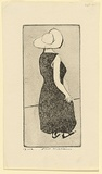 Artist: WILLIAMS, Fred | Title: Lady | Date: 1955-56 | Technique: etching, aquatint, engraving and drypoint, printed in black ink, from one copper plate | Copyright: © Fred Williams Estate