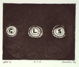 Artist: SANSOM, Gareth | Title: G.L.S. | Date: 1994, January - March | Technique: etching and aquatint, printed in black ink, from one plate