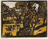 Artist: PRESTON, Margaret | Title: Lachlan River | Date: 1939 | Technique: woodcut, printed in colour, from multiple blocks | Copyright: © Margaret Preston. Licensed by VISCOPY, Australia