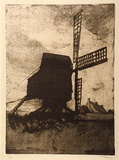 Artist: LONG, Sydney | Title: The passing storm | Date: c.1919 | Technique: aquatint, softground etching, printed in warm black ink, from one plate | Copyright: Reproduced with the kind permission of the Ophthalmic Research Institute of Australia