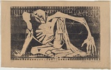 Artist: TRAUER, Robert | Title: J'accuse | Date: 1963 | Technique: woodcut, printed in black ink, from one block