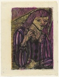 Artist: HANRAHAN, Barbara | Title: Circus girl | Date: 1962 | Technique: woodcut, printed in colour, from four blocks