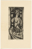 Artist: HANRAHAN, Barbara | Title: Mother and child [1]. | Date: 1962 | Technique: etching and aquatint, printed in black ink, from one plate