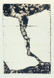 Artist: ROBERTS, Neil | Title: Lahar 2 | Date: 1991 | Technique: pigment-transfer, printed in brown ink, from one bitumen paper plate