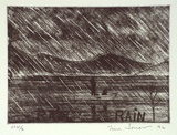 Artist: JONES, Tim | Title: Rain rain | Date: 1994, April - May | Technique: etching, printed in black ink, from one plate
