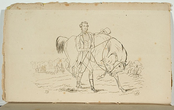 Artist: CARMICHAEL, J. | Title: The Master of the Fitz Roy Hunt. | Date: 1850 | Technique: engraving and etching, printed in black ink, from one copper plate