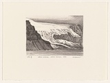 Artist: ELLIOTT, Fred W. | Title: Jacka Glacier, Heard Island, 1956 | Date: 1997, February | Technique: photo-lithograph, printed in black ink, from one stone | Copyright: By courtesy of the artist