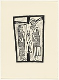 Artist: HANRAHAN, Barbara | Title: Crucifixion | Date: 1962 | Technique: woodcut, printed in black ink, from one block
