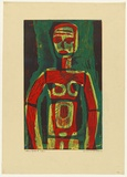 Artist: HANRAHAN, Barbara | Title: Figure | Date: 1964 | Technique: etching, printed in colour from three  plates