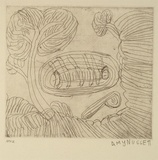 Artist: NUGGETT, Amy | Title: Lakarnti | Date: 1994, October - November | Technique: etching, printed in black ink, from one plate