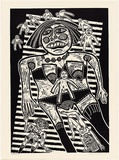 Artist: HANRAHAN, Barbara | Title: Little men | Date: 1988 | Technique: linocut, printed in black ink, from one block