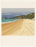 Artist: ROSE, David | Title: Rainbow beach | Date: 1987 | Technique: screenprint, printed in colour, from multiple stencils