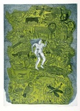 Artist: HANRAHAN, Barbara | Title: Garden of Eden | Date: 1977 | Technique: etching, printed in colour with plate-tone