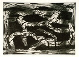 Artist: ROONEY, Elizabeth | Title: Night journey | Date: 1961, November | Technique: etching and aquatint, printed in black ink with plate-tone, from one plate
