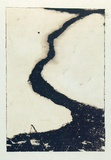 Artist: ROBERTS, Neil | Title: Lahar 5 | Date: 1991 | Technique: pigment-transfer, printed in brown ink, from one bitumen paper plate