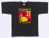 Artist: TERRITORY TRACK AND FIELD | Title: T-shirt: Gurindji Freedom Day 1966-1991. | Date: 1991 | Technique: screenprint, printed in colour, from two stencils