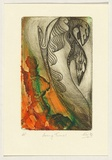 Title: Facing turmoil | Date: 1992 | Technique: etching, printed in colour, from two plates