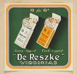 Artist: BURDETT, Frank | Title: Label: De Reszke, Virginia cigarettes. | Date: 1930 | Technique: lithograph, printed in colour, from multiple stones [or plates]