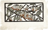 Artist: PRESTON, Margaret | Title: Mistletoe | Date: 1930 | Technique: woodcut, printed in black ink, from one block; hand-coloured | Copyright: © Margaret Preston. Licensed by VISCOPY, Australia