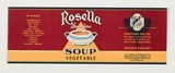 Artist: BURDETT, Frank | Title: Label: Rosella, vegetable soup. | Date: 1932 | Technique: lithograph, printed in colour, from multiple stones [or plates]