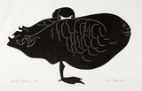 Artist: THAKE, Eric | Title: Bird watching | Date: 1965 | Technique: linocut, printed in black ink, from one block