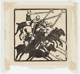 Artist: PRESTON, Margaret | Title: Polo | Date: 1935 | Technique: woodcut, printed in black ink, from one block | Copyright: © Margaret Preston. Licensed by VISCOPY, Australia