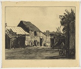 Artist: URE SMITH, Sydney | Title: Ambleside farmyard | Date: c.1926 | Technique: etching, printed in black ink, from one plate