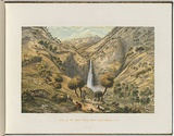 Artist: VON GUERARD, Eugene | Title: Fall of the first creek near Glen Osmond, South Australia | Date: (1866 - 68) | Technique: lithograph, printed in colour, from multiple stones [or plates]