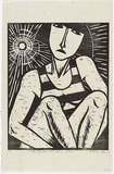 Artist: KLEIN, Deborah | Title: Zelda Fitzgerald at the south of France | Date: 1991 | Technique: woodcut, printed in black ink, from one block