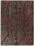 Artist: REES, Ann Gillmore | Title: Fabric design (abstract) | Date: c.1942 | Technique: engraved woodblock