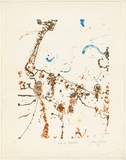 Artist: OLSEN, John | Title: Lake Eyre in December | Date: 1978 | Technique: lithograph, printed in colour, from four plates | Copyright: © John Olsen. Licensed by VISCOPY, Australia