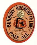Title: Label: Bunbury Brewery Company Limited. Pale ale | Date: c.1920 | Technique: lithograph, printed in colour, from multiple stones [or plates]
