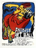 Artist: FLYNN, Jo | Title: Fantasy art ball. | Date: c.1983 | Technique: screenprint, printed in colour, from multiple stencils